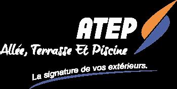 Logo Atep Piscine Blanc